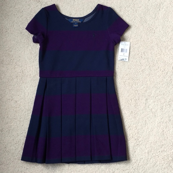97fbf24f067f2 Polo by Ralph Lauren Dresses | Girls Ralph Lauren Striped Ponte ...